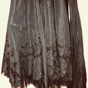 Black short dress with beads and sash